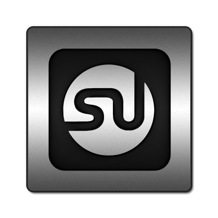 square, logo, stumbleupon icon