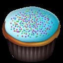 blue,cupcake icon
