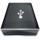 Black USB icon