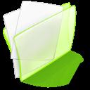 green, dossier, papier icon