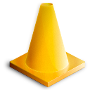 traffic, cone, vlc icon