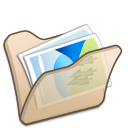 folder beige mypictures icon