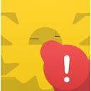 warning, process icon