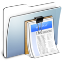Graphite Smooth Folder Documents icon