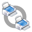 print, connect, net, class icon