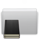 folder, graphite, library icon