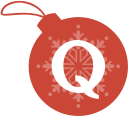 quora, christmas, ball icon