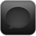 Black, Message icon