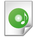 music, disc, file icon