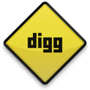 sign, digg icon