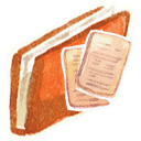 Red documents icon