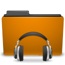 sound, orange, folder, voice icon