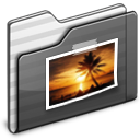 Pictures. Folder black icon