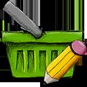 Basket, Ecommerce, Edit, Shopping, Webshop icon