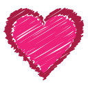favorite, like, scribble, love, bookmark, red, heart icon