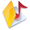 music, yellow, folder icon