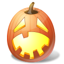 jack o lantern, hysterical, halloween, pumpkin icon