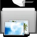 Folder Picture Graphite icon