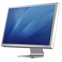 Cinema Display Diagonal blue icon