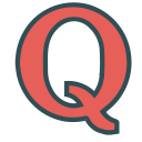 brand, social, media, single, letter, q icon