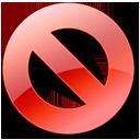 no, cancel, red, close, stop icon