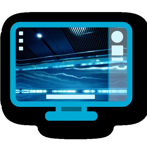 blue, desktop icon