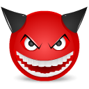 Devil laught icon