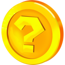 question, coin icon
