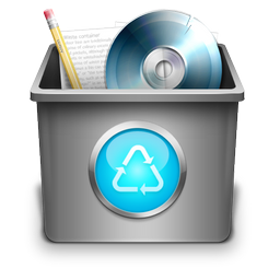 trash, recycle bin, full icon