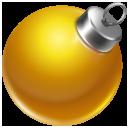 christmas, orange, yellow, ball icon