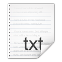 Mimetypes text x generic icon
