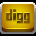Digg Orange 2 icon
