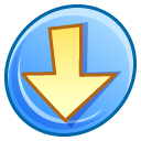 descending, decrease, descend, download, fall, down icon