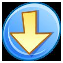 descending, decrease, descend, download, fall, down icon