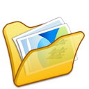folder, yellow, mypictures icon