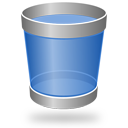 trash, recycle bin, blank, empty icon