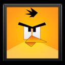 yellow,angrybird,blackframe icon