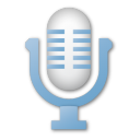 blue, microphone, mic icon