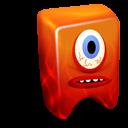 creature, fire icon