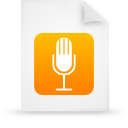 paper, file, orange, document icon