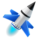 spaceship, rocket, launch icon