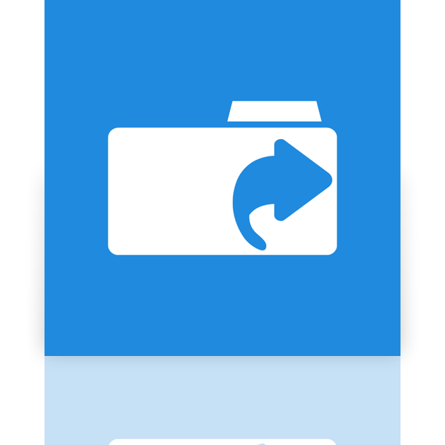 links, mirror, folder icon