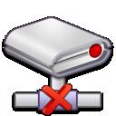 error, network, drive icon