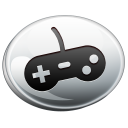 game, controller, silver icon