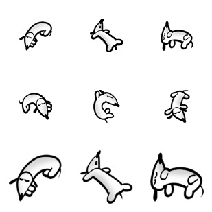 Dog icon sets preview