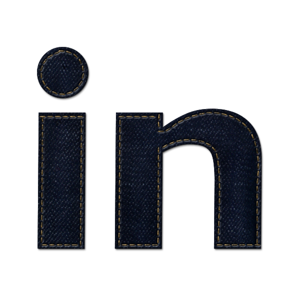 linkedin, logo, denim, social, jean icon