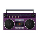Boombox, Pink icon