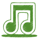 green, tone, note, music, itunes icon