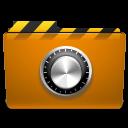security, folder, lock, orange, locked icon