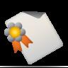 certificate, diploma, diagram icon